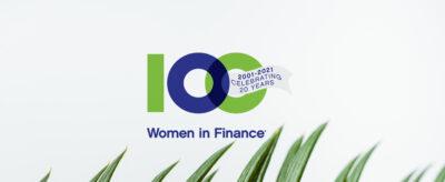 Rebecca Palmer speaking at the 100 Women in Finance webinar: The Essential Insights on ESG - Waystone